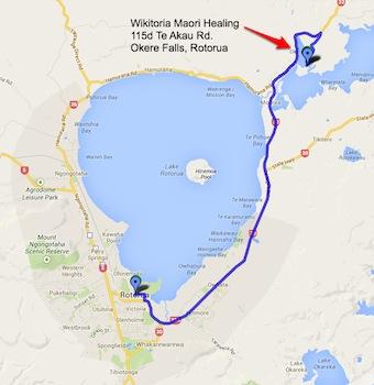 Map - Rotorua-city To Wikitoria Maori Healing
